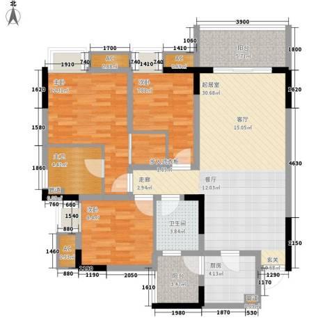 金悦湾3室0厅1卫1厨91.00㎡户型图