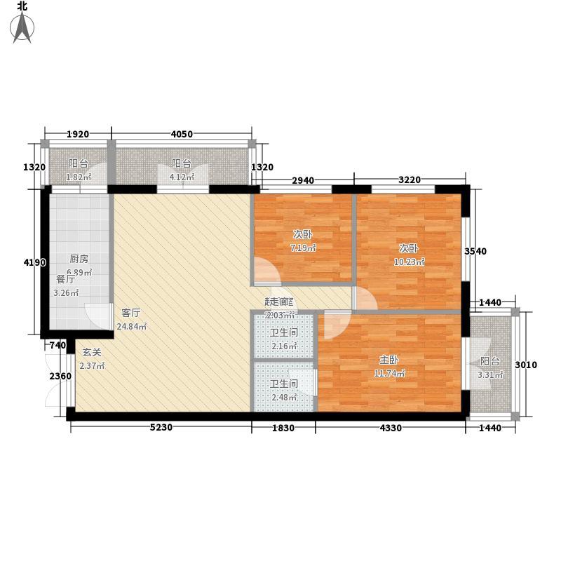 世纪嘉园89.32㎡世纪嘉园户型图户型13室2厅2卫1厨户型3室2厅2卫1厨