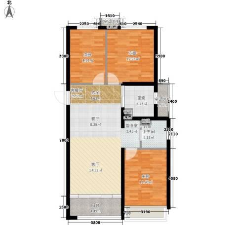 嘉汇城3室1厅1卫1厨109.00㎡户型图