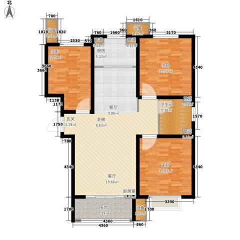 丽景御园3室0厅1卫1厨149.00㎡户型图