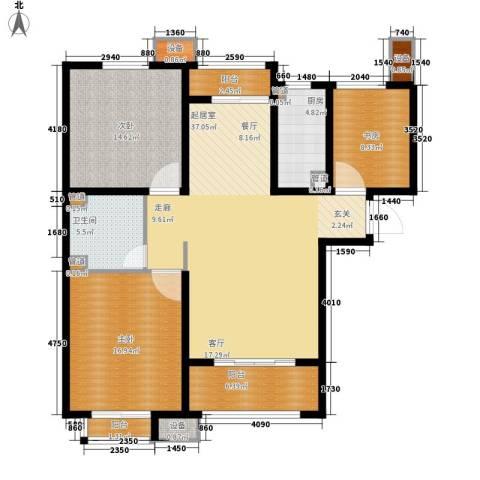 丽景御园3室0厅1卫1厨145.00㎡户型图