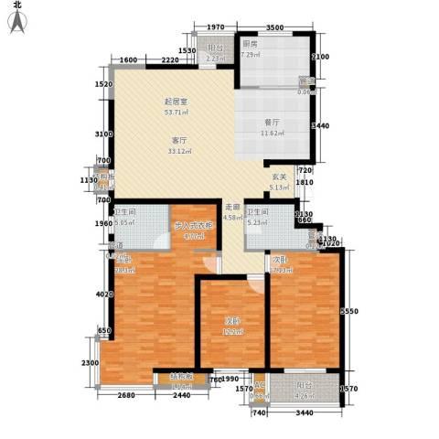 银丰山庄3室0厅2卫1厨196.00㎡户型图