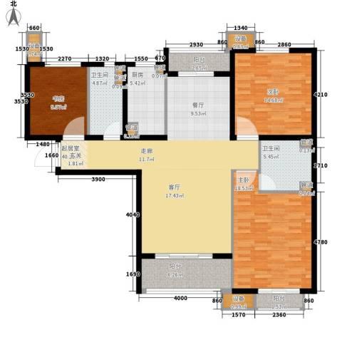 丽景御园3室0厅2卫1厨160.00㎡户型图