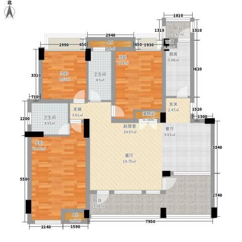 新时代景庭别墅3室0厅2卫1厨153.00㎡户型图