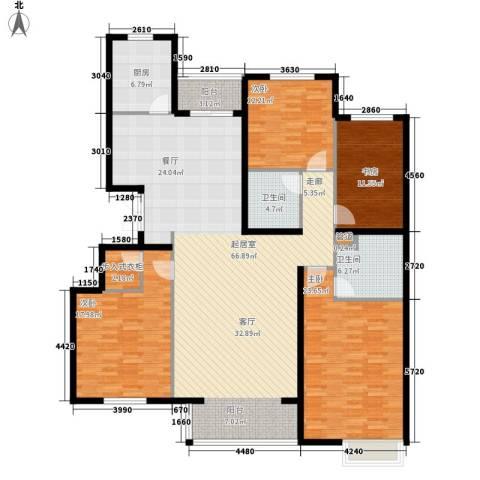 银丰山庄4室0厅2卫1厨172.00㎡户型图