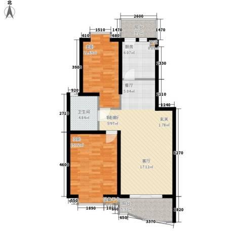 金虹花园2室1厅1卫1厨84.00㎡户型图