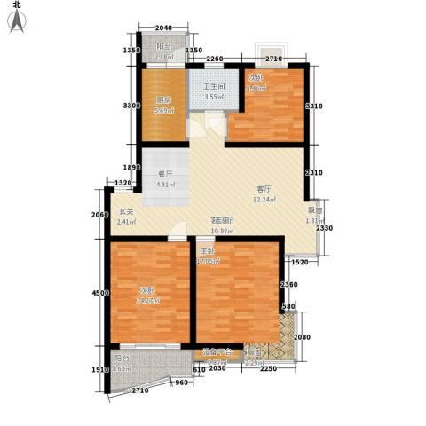金虹花园3室1厅1卫1厨93.00㎡户型图