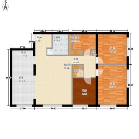 山景明珠花园4室0厅1卫0厨140.00㎡户型图