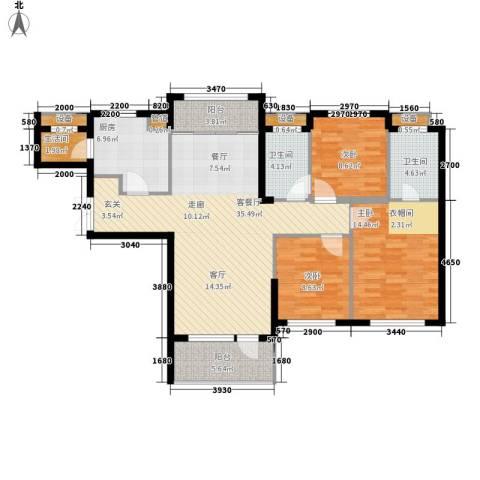 嘉里海楹台3室1厅2卫1厨132.00㎡户型图