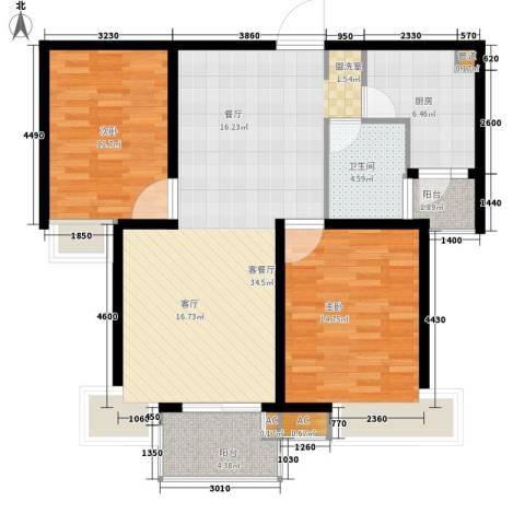 馨泰花苑2室1厅1卫1厨91.20㎡户型图