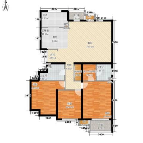 银丰山庄3室0厅2卫1厨170.00㎡户型图