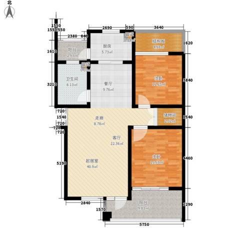 嘉业阳光假日2室0厅1卫1厨114.00㎡户型图