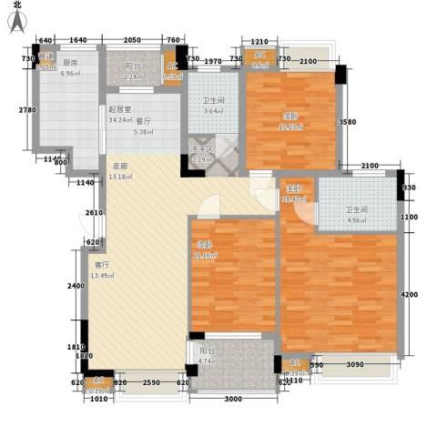 南山・苏迪亚诺3室0厅2卫1厨120.00㎡户型图