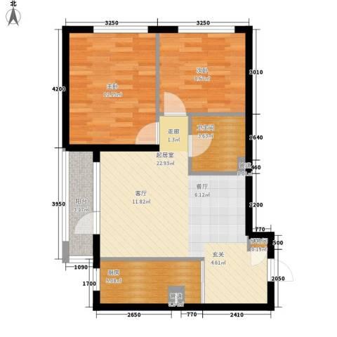 于台小区2室0厅1卫1厨80.00㎡户型图