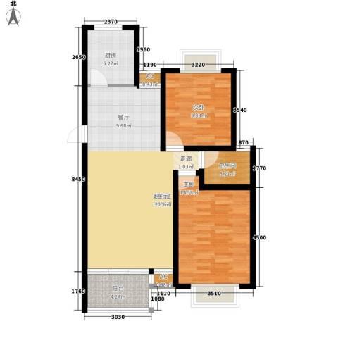 于台小区2室0厅1卫1厨100.00㎡户型图