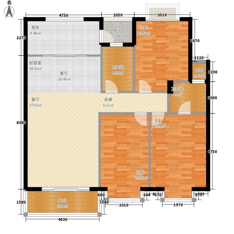 名人港湾142.17㎡名人港湾户型图1#B3室2厅2卫1厨142.17㎡户型3室2厅2卫1厨