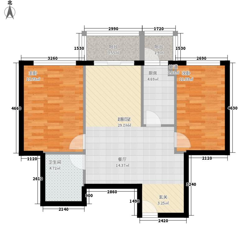 世纪嘉园世纪嘉园户型图两室一厅75.33平方米2室1厅1卫1厨户型2室1厅1卫1厨