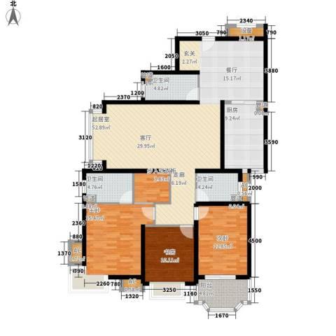 山景明珠花园3室0厅3卫1厨182.00㎡户型图