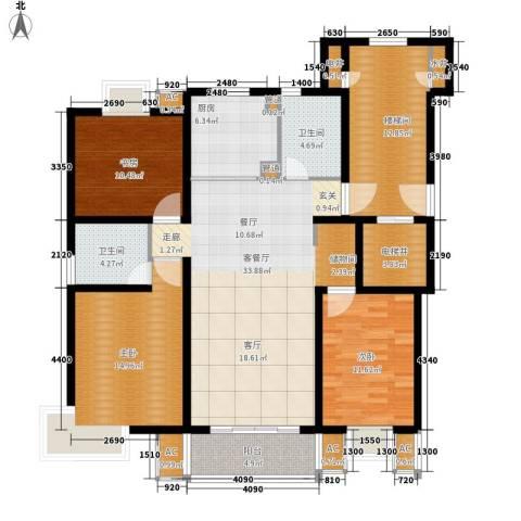 大地之歌3室1厅2卫1厨130.00㎡户型图