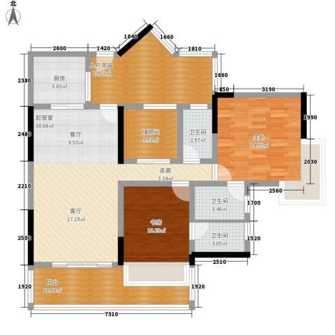 粤顺豪庭2室0厅3卫1厨110.00㎡户型图