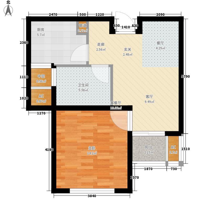 新创理想城58.02㎡新创理想城户型图三期58平米90#1室2厅1卫1厨户型1室2厅1卫1厨
