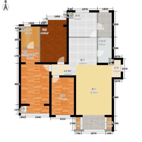 水木清华3室0厅2卫1厨140.00㎡户型图