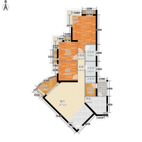 雍华庭四期3室0厅3卫1厨118.00㎡户型图