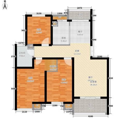 嘉业阳光假日2室0厅1卫1厨146.00㎡户型图
