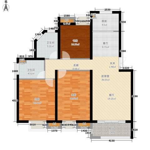 丽阳景苑3室0厅2卫1厨113.29㎡户型图