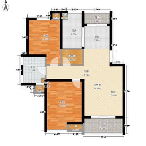 嘉业阳光假日2室0厅1卫1厨122.00㎡户型图