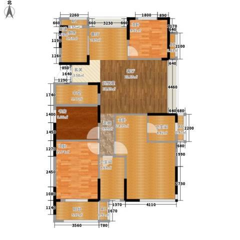 大成国际领域4室0厅2卫1厨143.00㎡户型图