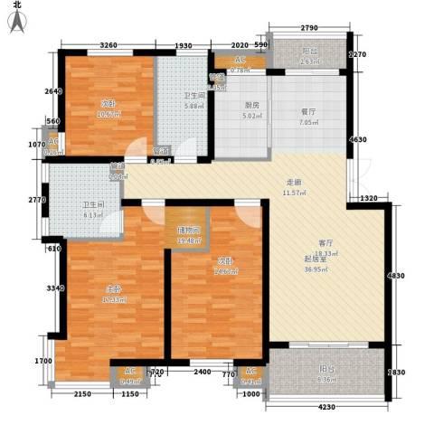 嘉业阳光假日2室0厅2卫1厨159.00㎡户型图
