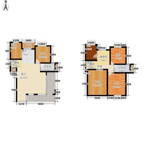 碧水云天4室0厅2卫1厨238.00㎡户型图