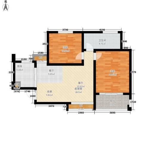 嘉业阳光假日2室0厅1卫1厨108.00㎡户型图