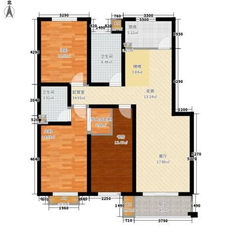 文广苑3室0厅2卫1厨115.00㎡户型图