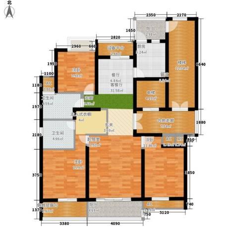 米兰公寓3室1厅2卫1厨144.00㎡户型图
