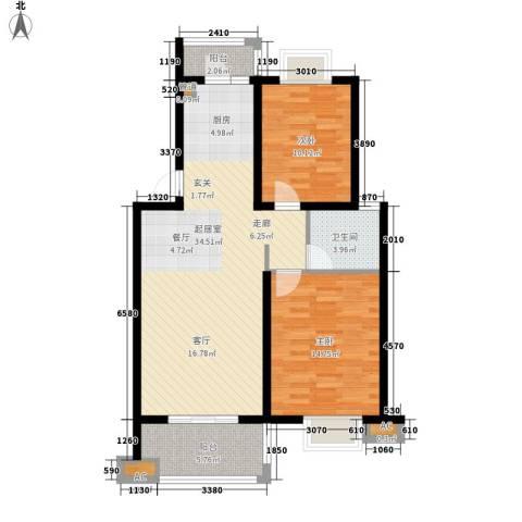 丽阳景苑2室0厅1卫0厨82.41㎡户型图