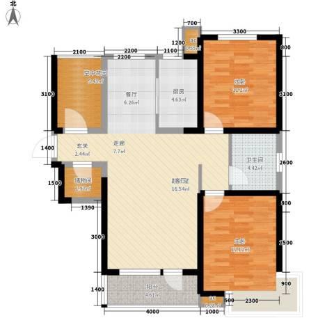 首创・国际城2室0厅1卫1厨112.00㎡户型图