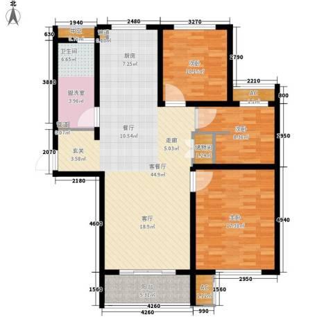 新创理想城3室1厅1卫0厨110.00㎡户型图