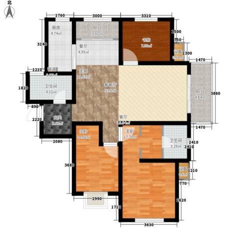 银丰唐郡・紫薇园3室1厅2卫1厨139.00㎡户型图