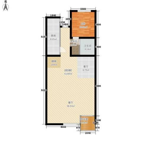 东北师范大学第一教职工住宅区1室0厅1卫1厨122.00㎡户型图