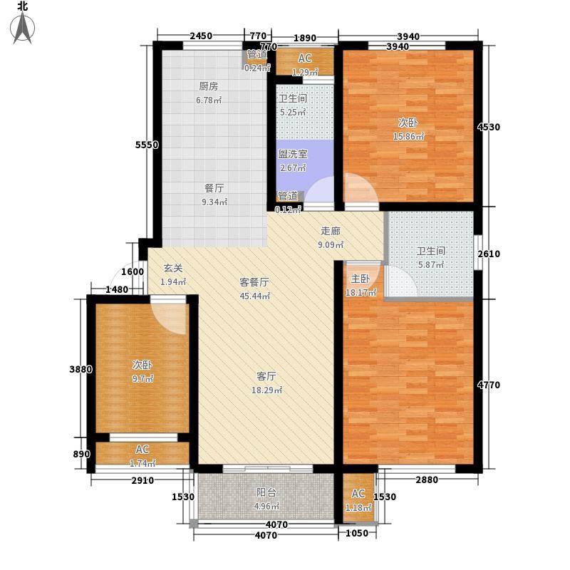 新创理想城128.00㎡新创理想城户型图88#楼B1户型图3室2厅1卫1厨户型3室2厅1卫1厨