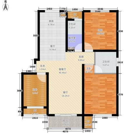 新创理想城3室1厅2卫0厨128.00㎡户型图