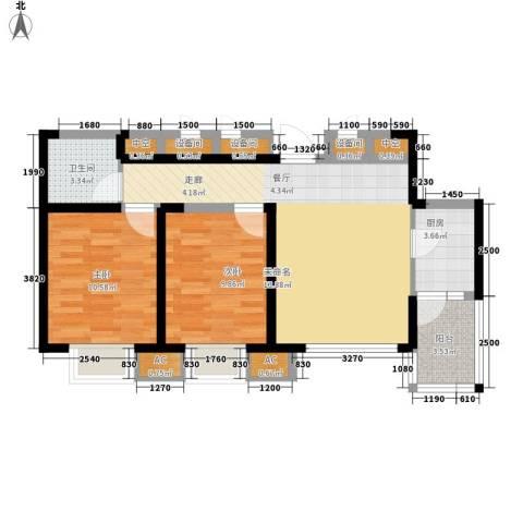 首创・国际城2室0厅1卫1厨93.00㎡户型图