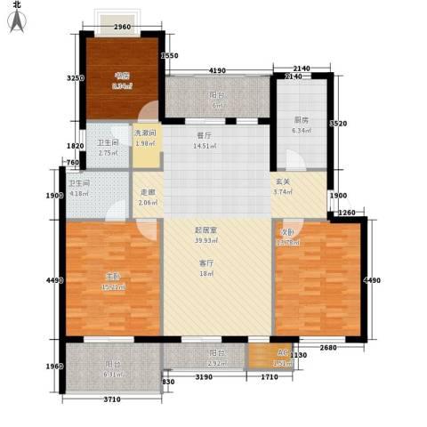 阳光高城苑3室0厅2卫1厨150.00㎡户型图