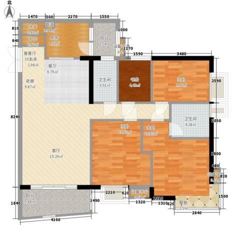 新港西路小区4室1厅2卫1厨109.00㎡户型图