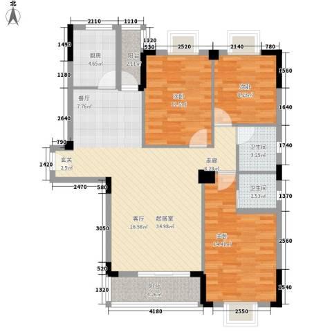 路安花苑3室0厅2卫1厨121.00㎡户型图