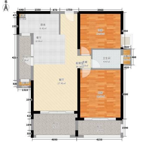 敬业乐府2室0厅1卫0厨103.70㎡户型图