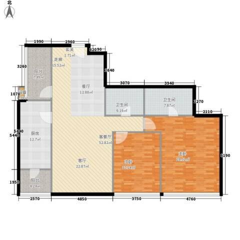 时代广场2室1厅2卫1厨150.00㎡户型图
