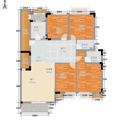 金丰花园(万江)4室0厅2卫1厨139.40㎡户型图